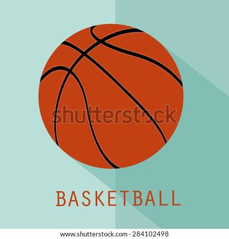 Basketball flat icon, symbol, sign - stock vector