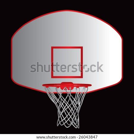 basketball goal - stock vector