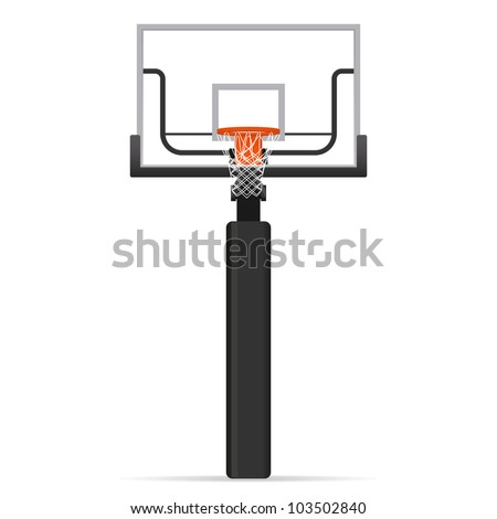 Basketball hoop. Vector illustration. - stock vector