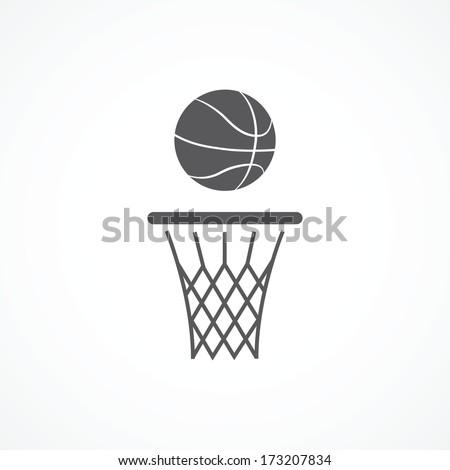 Basketball icon - stock vector