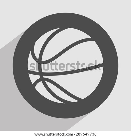 basketball icon design, vector illustration eps10 graphic