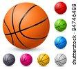 Basketball. Illustration on white background for design. - stock vector