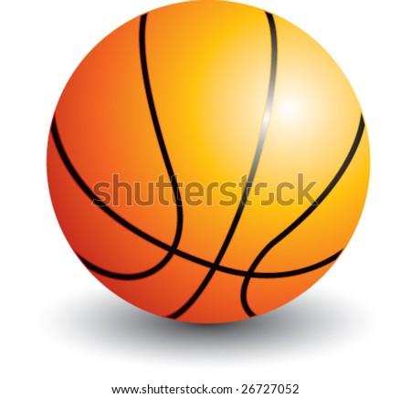 basketball isolated - stock vector