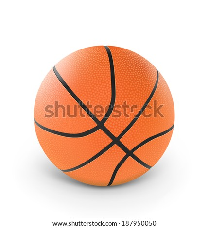 Basketball isolated on white background. Vector illustration. Realistic - stock vector