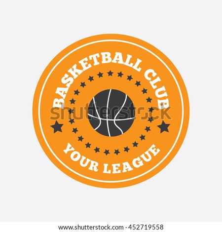 basketball template logo badge emblem stock vector 321510014 shutterstock. Black Bedroom Furniture Sets. Home Design Ideas