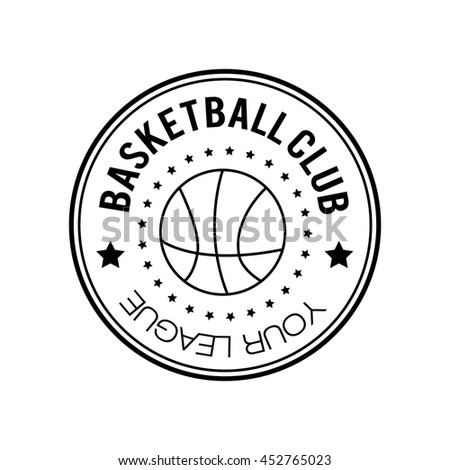 Basketball Logobasketball Emblem Template Basketball Ball Stock ...