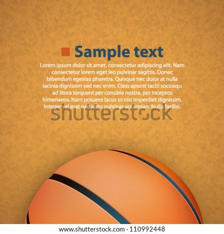 basketball on the floor - stock vector