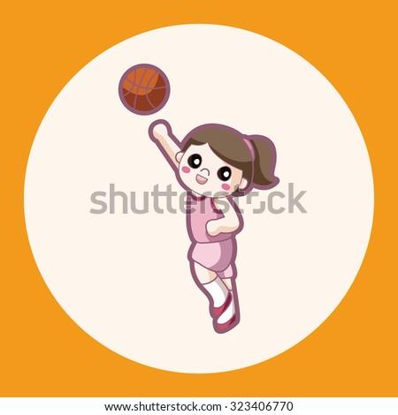 basketball player theme elements  - stock vector