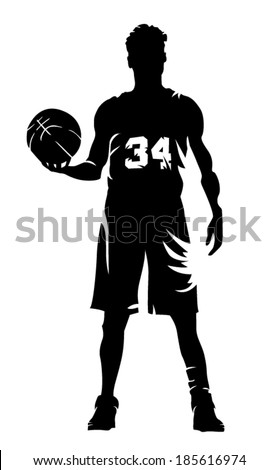 basketball player vector illustration - stock vector