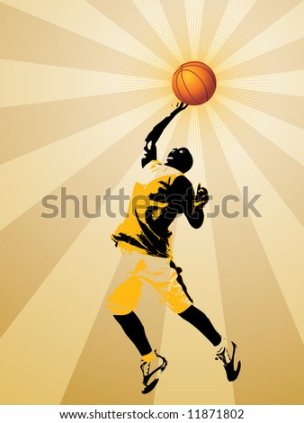 Basketball Players - stock vector