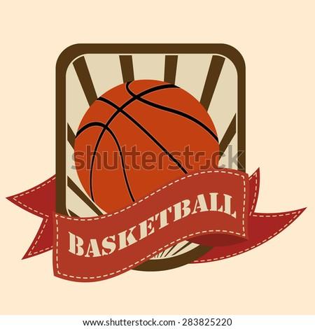 Basketball sign, symbol, logo, emblem - stock vector