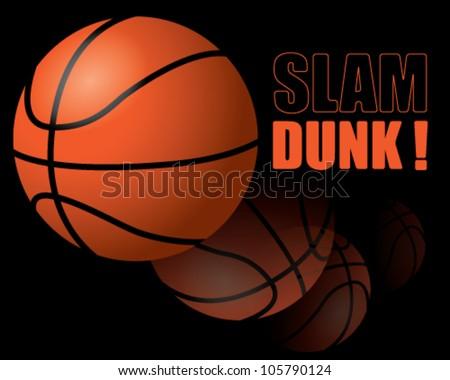 Basketball Slam dunk! - stock vector