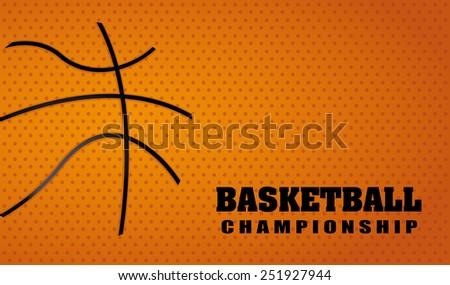 basketball sport design, vector illustration eps10 graphic  - stock vector