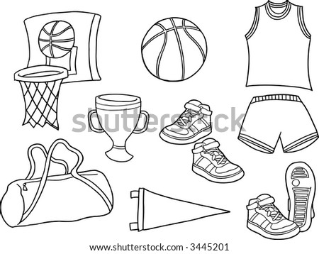 Basketball Sports Vector Illustration - stock vector