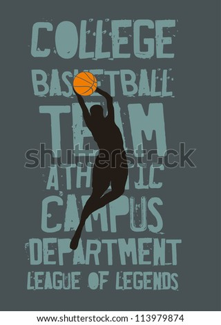basketball team - stock vector