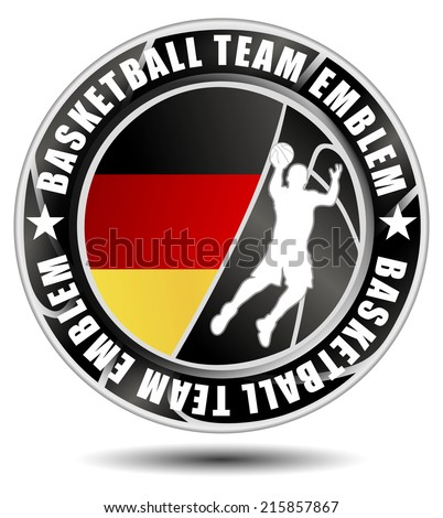 Basketball team emblem/logo with flag of Germany