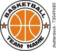 Basketball team logo - stock photo