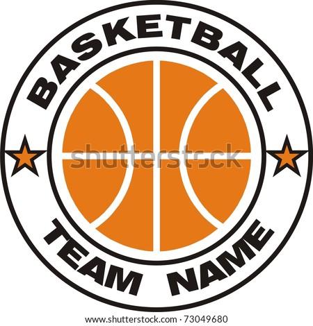 Basketball team logo - stock vector