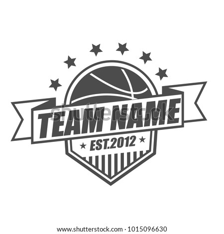 Basketball Team Logo Template Stock Vector (2018) 1015096630 ...