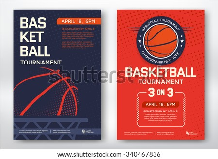 Basketball tournament modern sports posters design stock vector basketball tournament modern sports posters design vector illustration stopboris Gallery