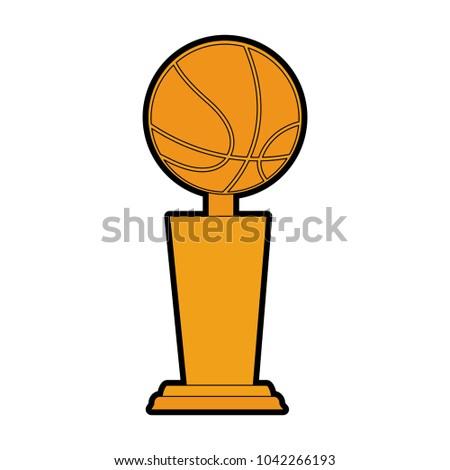 Basketball Trophy Cup Stock Vector 1042266193 Shutterstock Rh Com