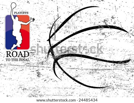 basketball vector poster - stock vector