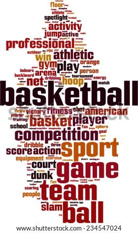 Basketball word cloud concept. Vector illustration - stock vector