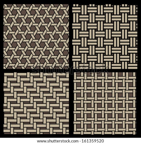 basketwork pattern - stock vector