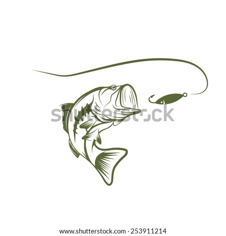 fish mouth template - the gallery for bass fishing stencil