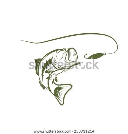 Bass fish stock images royalty free images vectors for Bass fishing logos