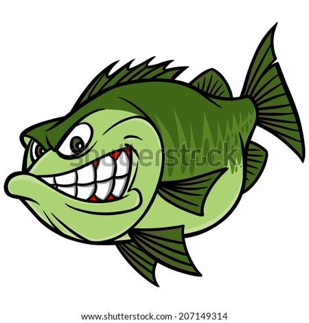 Bass Fishing Mascot - stock vector