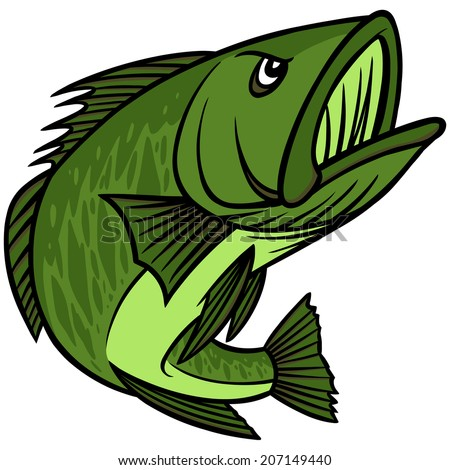 Bass Mascot - stock vector