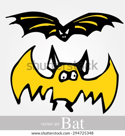 bat clip art illustration isolated on a background. Can be placed on your design or costume