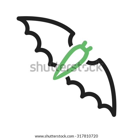 Bat, halloween, night icon vector image. Can also be used for halloween, celebration, observances and holidays. Suitable for mobile apps, web apps and print media.