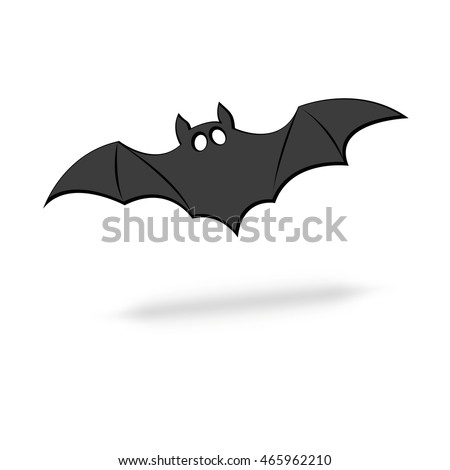 bat silhouettevector flat design halloween concept