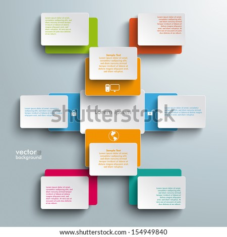 Batched rectangles on the grey background. Eps 10 vector file. - stock vector