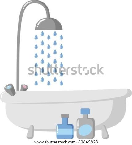 Bath - stock vector