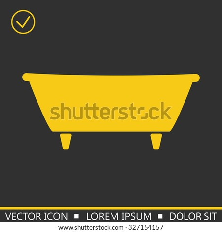 Bath icon. vector illustration
