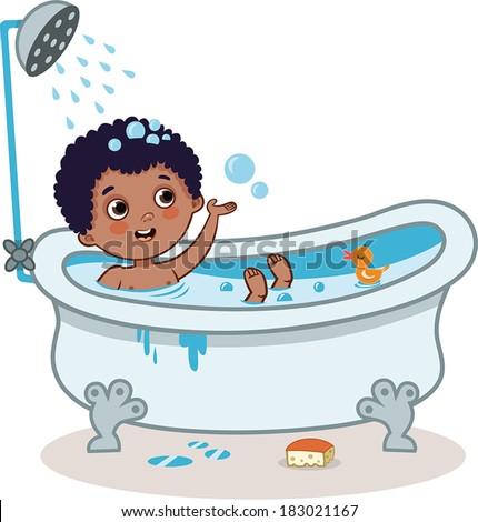 Kid bathing stock images royalty free images amp vectors shutterstock
