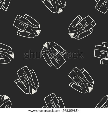 bathrobe doodle seamless pattern background