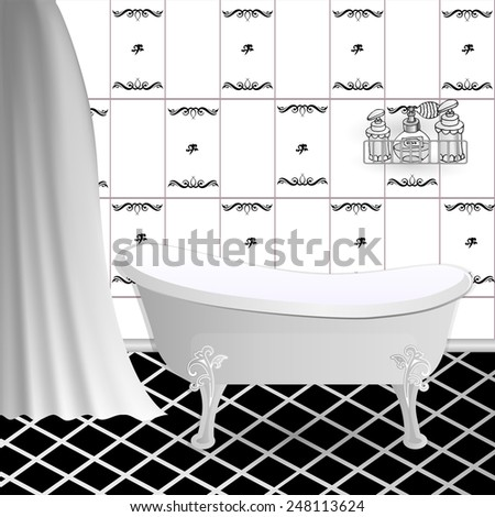 Popular Vector Of Tile Pattern  A Seamless And Repeating Bathroom Tile