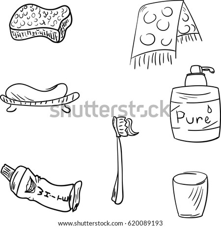 Bathroom drawing stock images royalty free images amp vectors