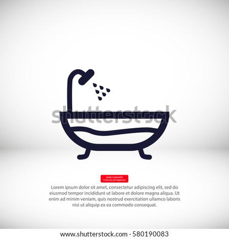 Bathroom icon  Bath with shower sign. Bathroom Icons Stock Images  Royalty Free Images  amp  Vectors