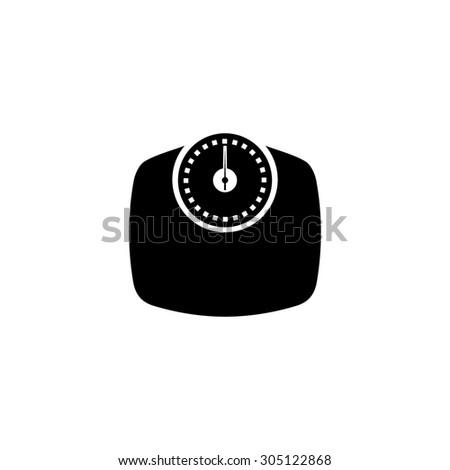 Bathroom scale. Black simple vector icon - stock vector