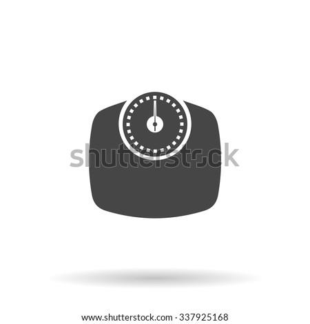 Bathroom scale. Icon Vector - stock vector