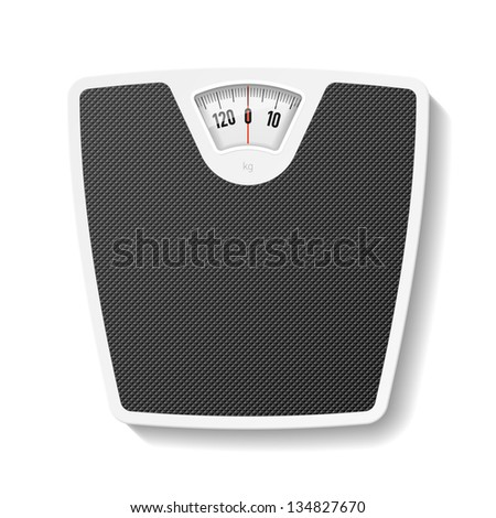 Bathroom scale. Vector. - stock vector