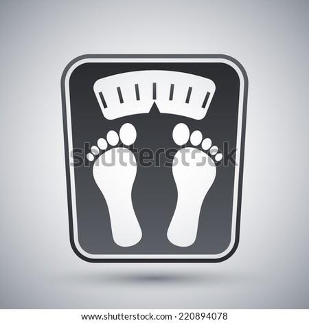 Bathroom scales icon, vector - stock vector