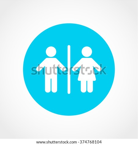 Bathroom Signs Holding Hands toilet sign icon design stock illustration 540262534 - shutterstock