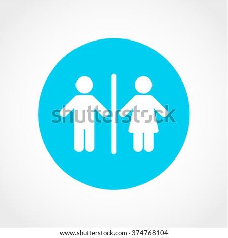 Bathroom Signs Holding Hands toilet sign icon design stock illustration 540262534 - shutterstock