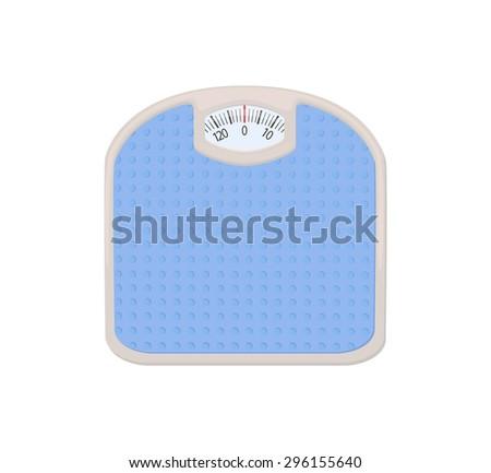 Bathroom weight scale - stock vector